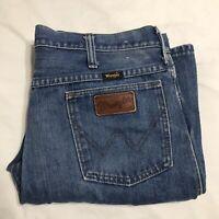 Vintage 60s Wrangler Denim Jeans 33 x 28 Slim Fit Made in USA Scovill Zipper
