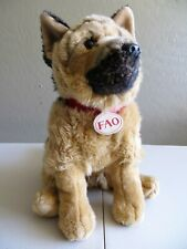 "14"" FAO Schwarz Toys R Us German Shepherd Plush Dog Stuffed Animal"