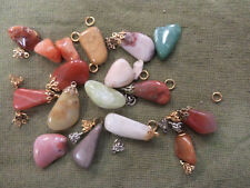 #D301. SMALL LOT OF POLISHED STONES &  PENDANT ATTACHMENTS
