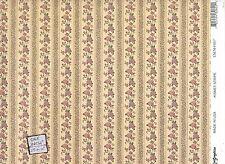 Kismet Stripe.- 206D23 MiniGraphics wallpaper dollhouse miniature 1/12 scale