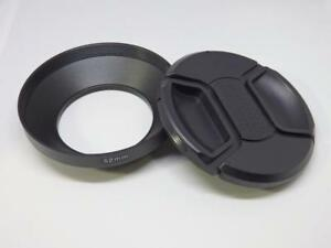 52mm Metal Camera Lens Hood + 72mm Cap for Wide Angle Lens 52WC72
