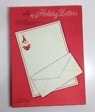 Vintage SANTA CHRISTMAS STATIONERY Boxed Set Holiday Letters Hallmark