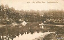 1920s Kennebunkport Maine River Sunset Rock Rankin postcard 9385