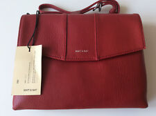 "MATT AND NAT ""EEHA"" CROSS BODY BAG. VEGAN RED 'LEATHER'. BRAND NEW WITH TAGS."