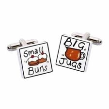 Small Buns Big Jugs Cufflinks by Sonia Spencer, Hand painted, RRP £20!