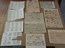 Lot of Vintage Ceramic Decals, 24 partial pieces, Letters, Numbers, Poems