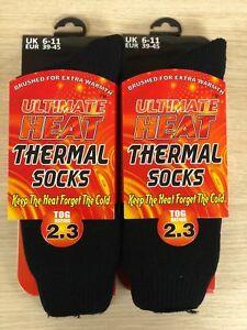 Mens Thermal Socks Ultimate Thick Hot Winter Warm Socks Ultimate 2.3 TOG 1 or 2