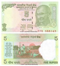 India 5 Rupees 2009  P-94A  Banknotes  UNC