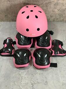 Adult Kids Safety Roller Skating Bike Helmet Knee Elbow Protective Gear Set
