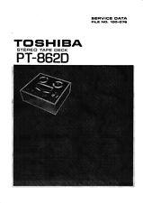 Service Manual-Anleitung für Toshiba PT-862 D