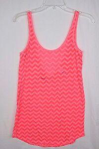 Pink by Victoria's Secret Women's XS Sheer Chevron Pink Tank Top