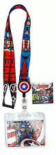 Marvel Avengers Captian America Lanyard with Retractable Card Holder
