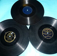 """Rene Musette 3X10"""" 78 rpm Lot TAP THE BARRELL DRY, CHEATING CHARLOTTE, HOBOHEMIA"""