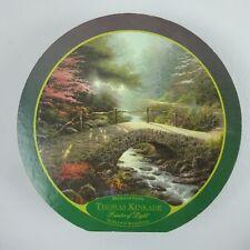 """Thomas Kinkade 750 pc 24"""" Round Puzzle Bridge of Faith"""