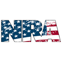 NRA NATIONAL RIFLE ASSOCIATION GUN RIGHTS 2nd AMENDMENT AMERICAN FLAG STICKER US