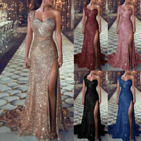 Gown Prom Dress Bridesmaid Ball Party Formal Bodycon Womens Maxi Long Sequins