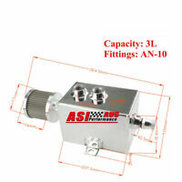 3L AN-10 Aluminum Oil Catch Tank Can Inlets Breather & Drain Tap Pick up service