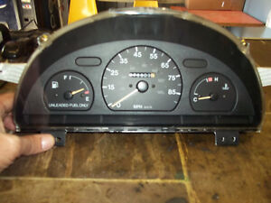1996 1997 1998 1999 2000 METRO SPEEDOMETER US CLUSTER W/O TACH 2 DR W/O ABS 79K