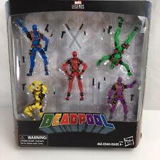 Deadpool Marvel Legends 3.75 inch 5 Color Hasbro pack Complete Set -New Open Box