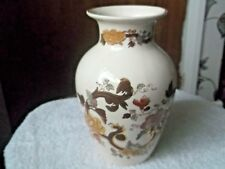LARGE SHAPED MASONS VASE  IN BROWN VELVET PATTERN   A / F