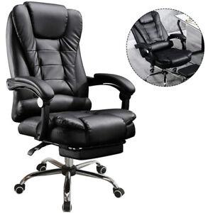 Massage Bürostuhl Chefsessel Schreibtischstuhl Drehstuhl Computerstuhl Fußablage