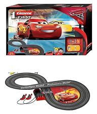 Cars 3 Lightning McQueen RC IR Radio Remote Control Slot Car Race Track Ages 3+