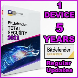 BITDEFENDER TOTAL SECURITY 2021 - 5 YEARS 1 DEVICE ACTIVATION - GENUINE - GLOBAL