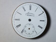 Waltham pocket watch movement, 5317113, 6S, 11 Jewels, 1892, with dial, for part