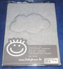 Housse de lit + taie 100 x 140 Baby Boum Cadum nuage gris