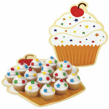 Cupcake Shaped Platters 12in. 3 ct from Wilton #5141 - NEW