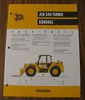 JCB 540 Turbo Loadall Spec Sheet Brochure Literature