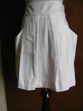 Lacoste designer woman's tennis skirt white pleated size 38 US 6 retail $145 NWT
