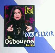 The OSBOURNE FAMILY DAD FLIPPING OFF PHOTO BLACK LIMITED EDITION RARE MAGNET