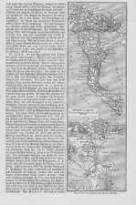 Insel Korfu StadtKorfu Original Karte von 1897 Angelokastro Ionische Inseln