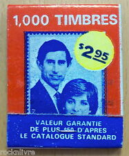 Princess Di Diana & Prince Charles UNUSED Vintage Matchbook Matches 1000 Stamps