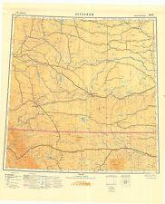 Russian Soviet Military Topographic Maps  - LETHBRIDGE (Canada), 1:1M, ed.1950