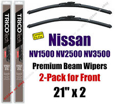 Wipers 2-Pack Premium Wiper Beam Blades - fit 2012+ Nissan NV1500 - 19210x2