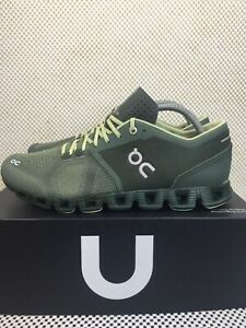 ON Cloud Running Shoe Cloud X Forest Jungle Green Men's Size 9 Box Without Lid