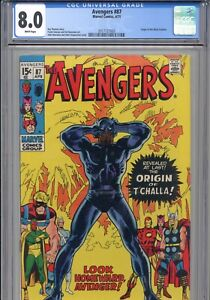 AVENGERS #87 (1971) CGC 8.0 APPEARANCE ORIGIN BLACK PANTHER
