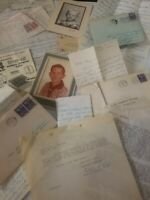 Vintage letters1952s Post stamps, pictures Price for all