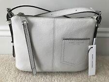 bc0ba4d9e MARC JACOBS Side Sling Crossbody Purse Shoulder Bag White Pebble Leather