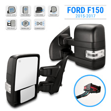 For 15-17 F150 Black Left Driver Side Tow Mirror Power Heated LED Signal Puddle