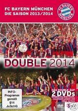 "2 DVD "" FC Bayern München Munich "" Double Saison 2013 / 2014 NEU + OVP 185 Min."