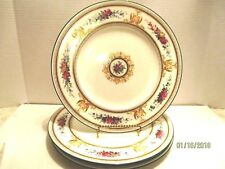 4 Wedgwood Columbia White Porcelain Dinner Plate Medallion Griffons Floral