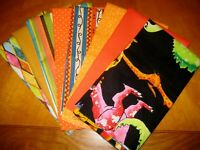 Quilter 8 fat quarters  collection assorted  bundle fabric cotton  lot B