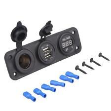 3 In 1 Caricatore Doppio USB + Voltmetro + Porta Accendisigari Per Auto
