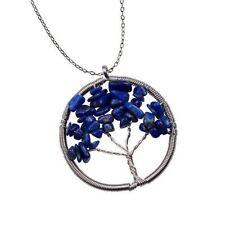 The Tree of Life Healing Natural Gemstone Pendant Necklace-Lapis Lazuli/FREE P&P