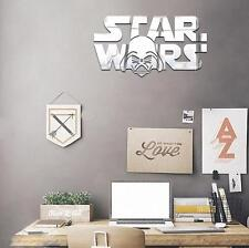 StarWars Modern Acrylic Mirror Wall Stickers Home Decal Art Room Vinyl Mural