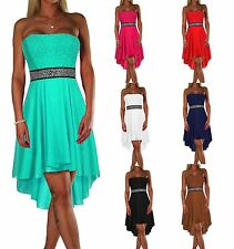6c5b81372896b6 DAMEN KLEID ABENDKLEID EDEL COCKTAIL PARTY BALLKLEID BANDEAU SOMMER TOP XS  S M