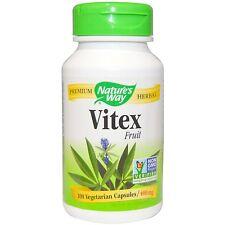 Nature's Way VITEX Fruit  Chaste Tree 400 mg - 100 veggie caps for Women's Cycle